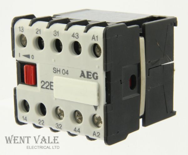 AEG SH04 22E-910-302-191-00 -16a  4 Pole Mini Control Relay 12dc Coil Un-used